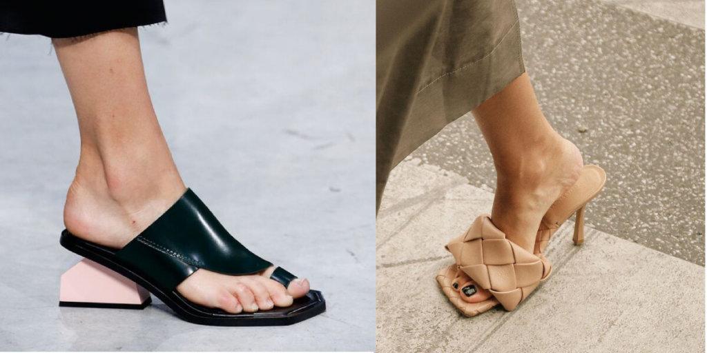 Мюли модные босоножки Лето 2020