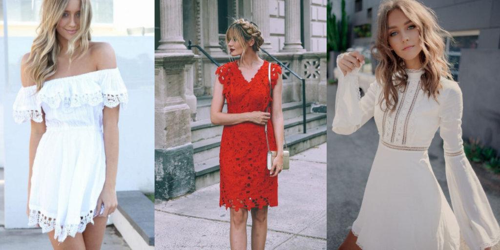 Летние кружевные платья 2020. Модные тенденции
