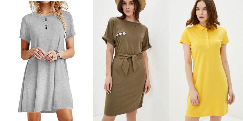 Летние платья-футболки 2020. Модные тенденции