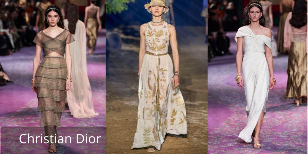 Летние платья 2020. Модные тенденции. Christian Dior