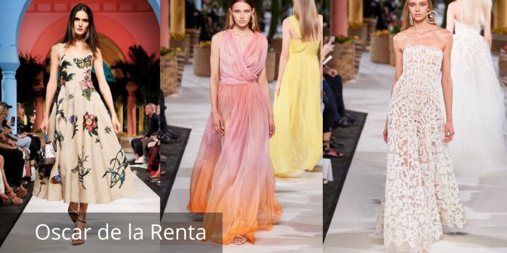 Летние платья 2020. Модные тенденции. Oscar de la Renta